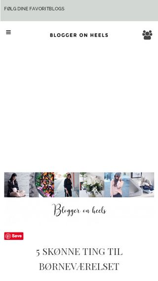 Mobile preview of bloggeronheels.dk