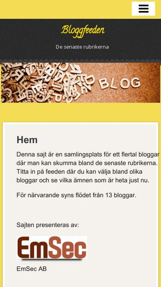 Mobile preview of bloggfeeden.se