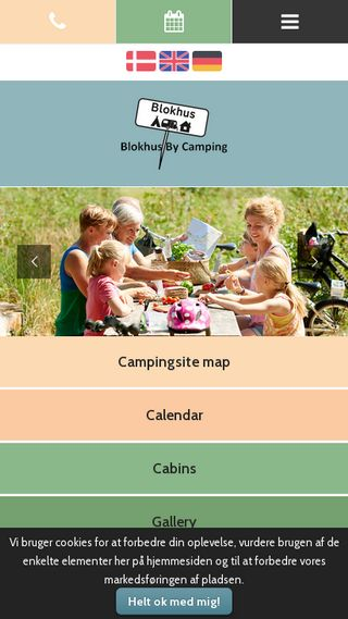 Mobile preview of blokhusbycamping.dk