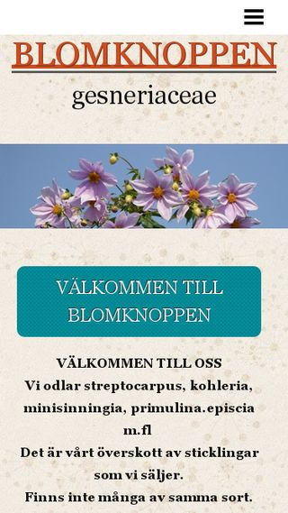 Mobile preview of blomknoppen.n.nu