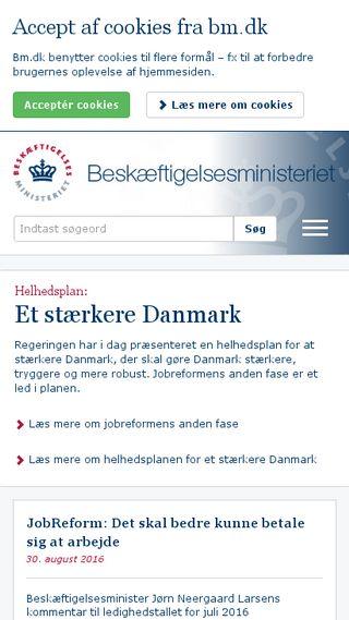 Mobile preview of bm.dk