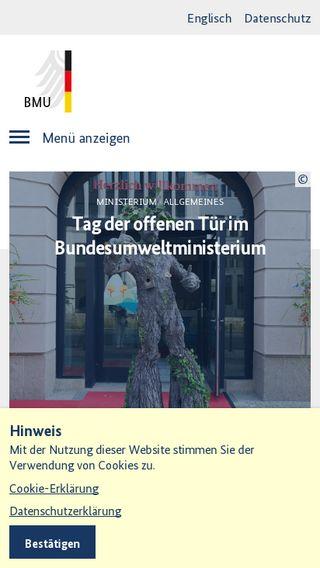 Mobile preview of bmu.de
