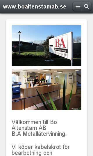 Mobile preview of boaltenstamab.se