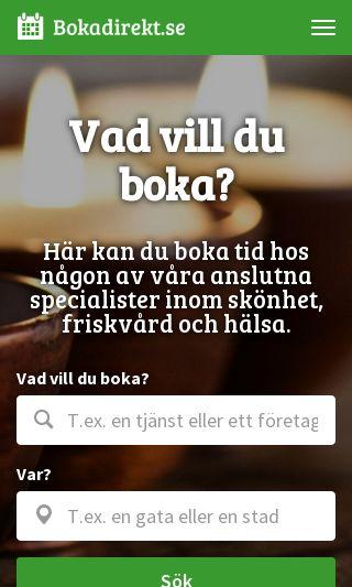 Mobile preview of bokadirekt.se