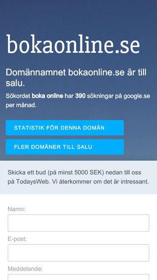 Mobile preview of bokaonline.se