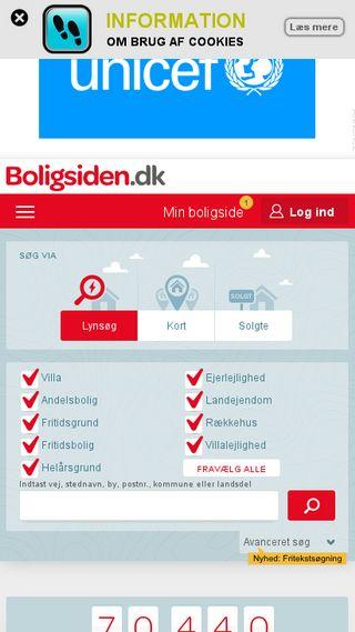 Mobile preview of boligsiden.dk