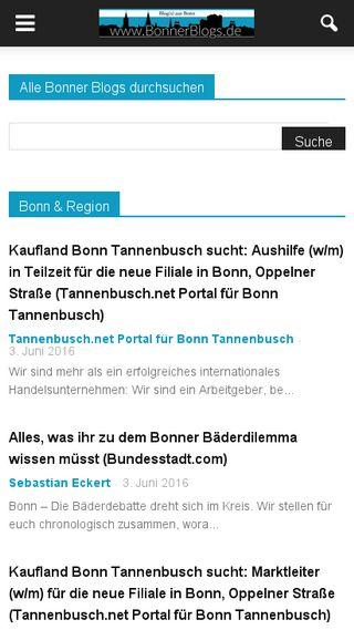 Mobile preview of bonnerblogs.de