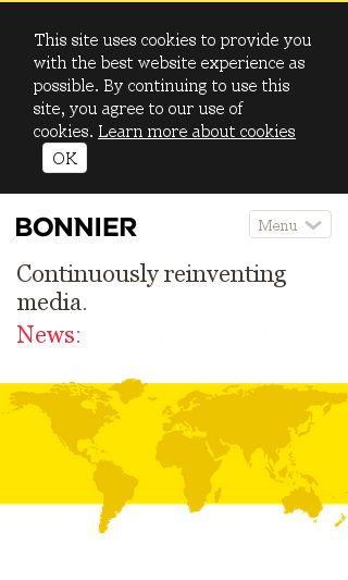 Mobile preview of bonnier.com