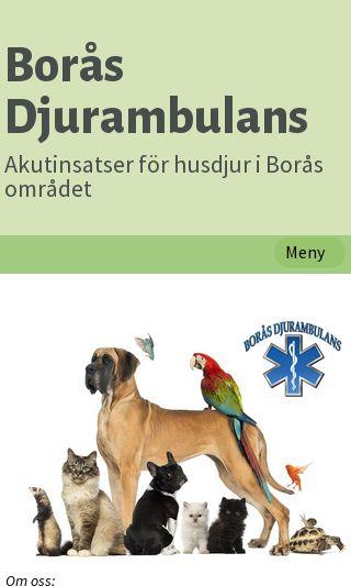 Mobile preview of boras-djurambulans.se