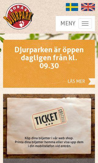 Mobile preview of borasdjurpark.se