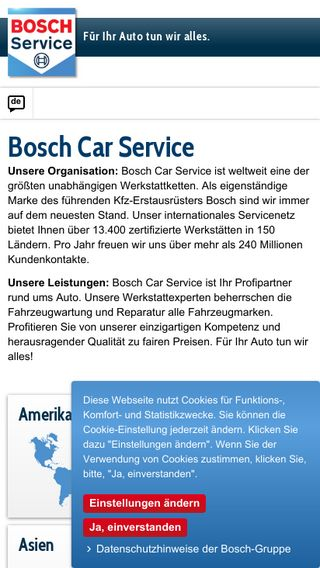 Mobile preview of boschcarservice.com