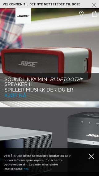 Mobile preview of bose.no