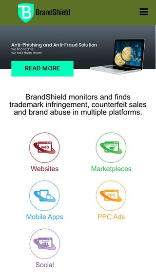 Mobile preview of brandshield.com