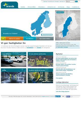 Mobile preview of bravida.se