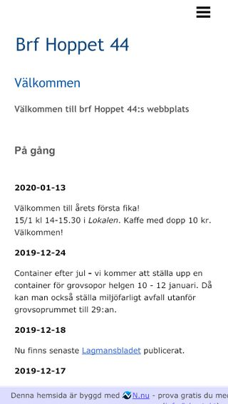 Mobile preview of brfhoppet44.n.nu
