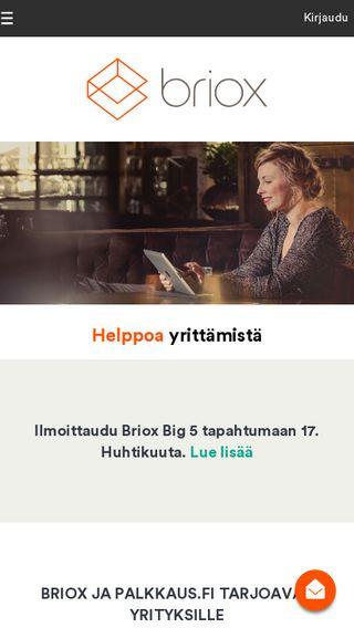 Mobile preview of briox.fi