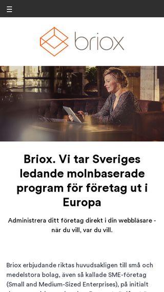 Mobile preview of briox.se