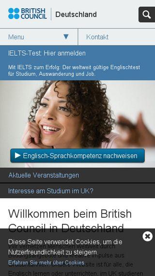 Mobile preview of britishcouncil.de