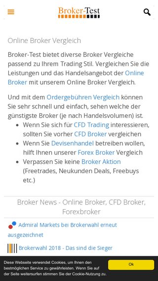 Mobile preview of broker-test.de