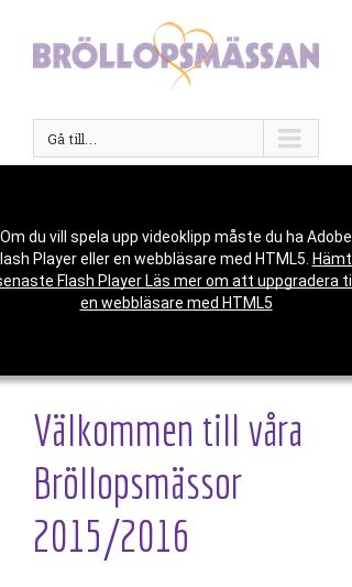 Mobile preview of brollopsmassan.se