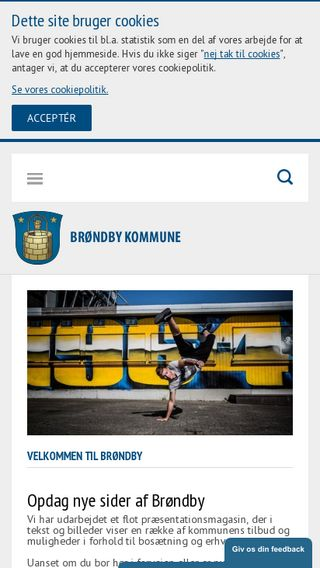 Mobile preview of brondby.dk