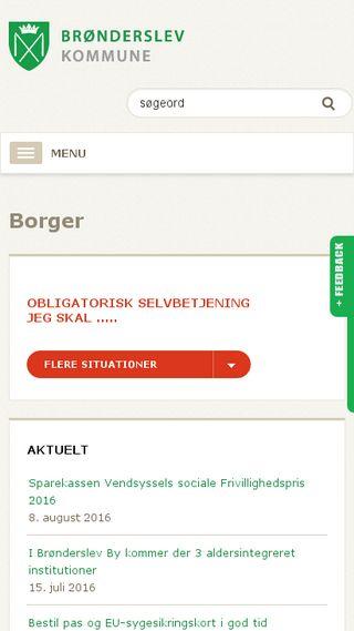 Mobile preview of bronderslev.dk