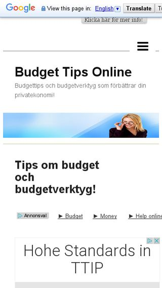 Mobile preview of budget.n.nu
