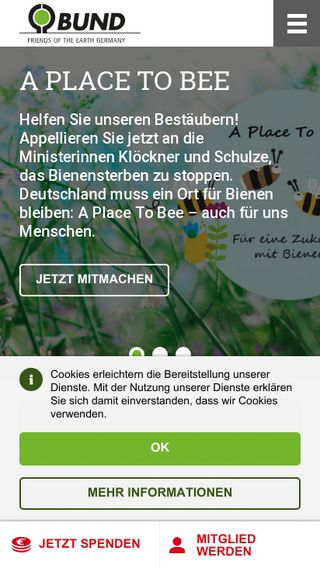 Mobile preview of bund.net