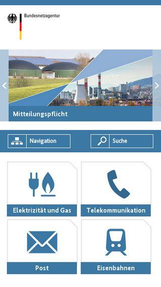 Mobile preview of bundesnetzagentur.de