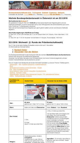 Mobile preview of bundespraesidentschaftswahl.at