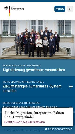 Mobile preview of bundesregierung.de