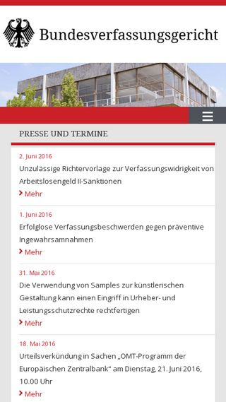 Mobile preview of bundesverfassungsgericht.de