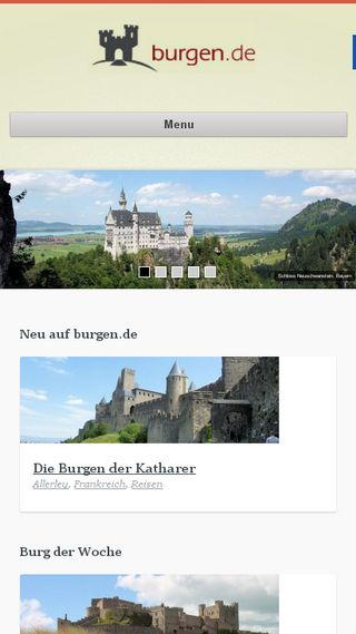 Mobile preview of burgen.de