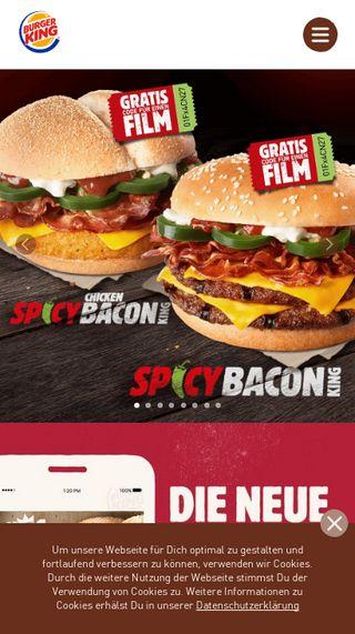 Mobile preview of burgerking.de
