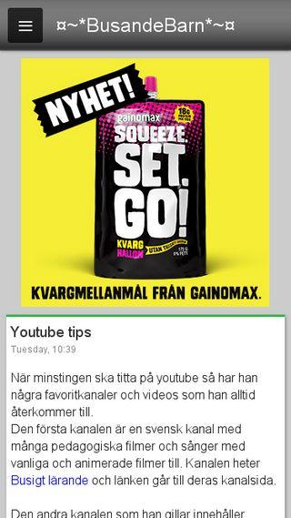 Mobile preview of busandebarn.se