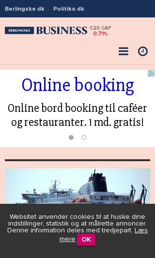 Mobile preview of business.dk