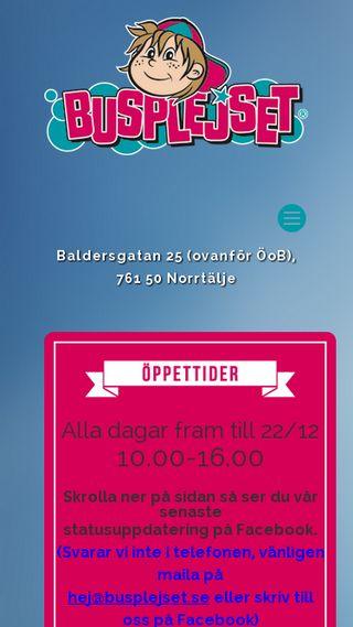 Mobile preview of busplejset.se