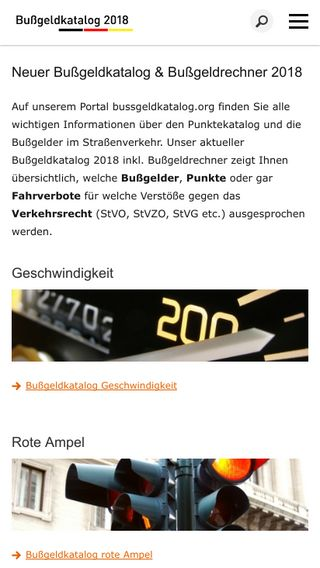 Mobile preview of bussgeldkatalog.org