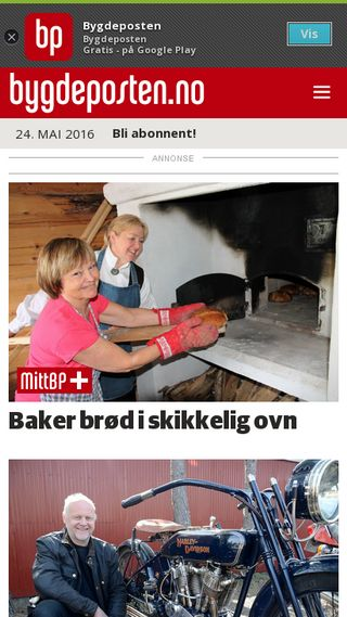 Mobile preview of bygdeposten.no