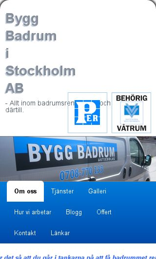 Mobile preview of byggbadrum.nu