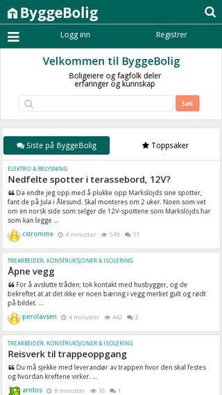 Mobile preview of byggebolig.no