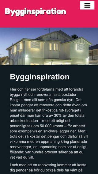 Mobile preview of bygginspiration.nu