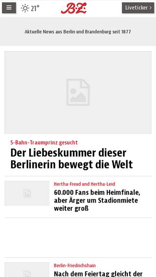Mobile preview of bz-berlin.de