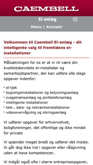 Mobile preview of caembell.dk