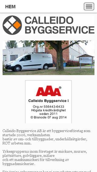 Mobile preview of calleido.se