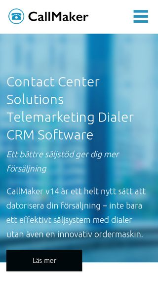 Mobile preview of callmaker.se
