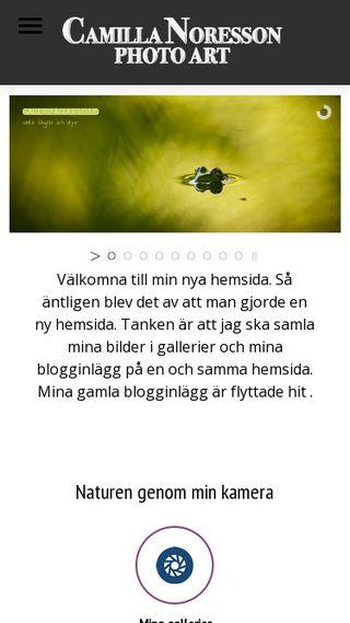 Mobile preview of camillanoresson.se