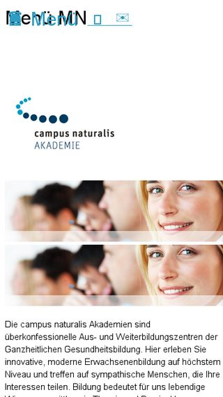 Mobile preview of campusnaturalis.de