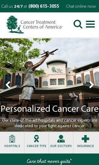 Mobile preview of cancercenter.com