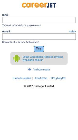 Mobile preview of careerjet.fi